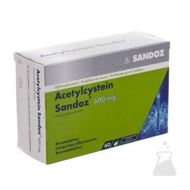 ACETYLCYSTEIN SANDOZ 600 MG (60BRUI)