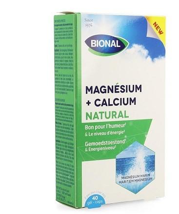 BIONAL MAGNESIUM + CALCIUM NATUR (40CAPS)