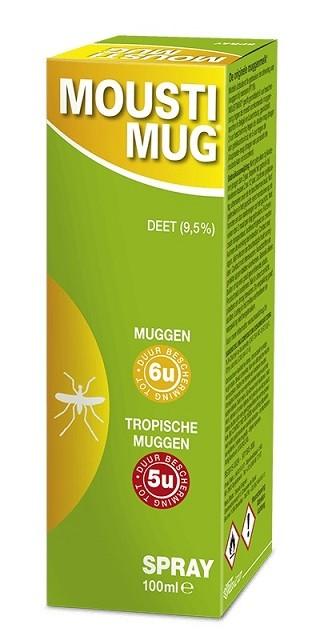 MOUSTIMUG SPRAY 9,5% DEET (100ML)