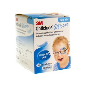 OPTICLUDE SILICONE BOY MINI 50X60MM (50STUK)
