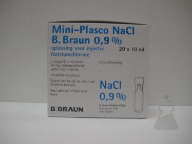 MINIPLASCO NACL 0,9% 10ML BRAUN (20AMP)