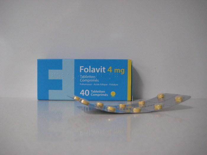 FOLAVIT 4MG LACTOSEVRIJ (40TABL)